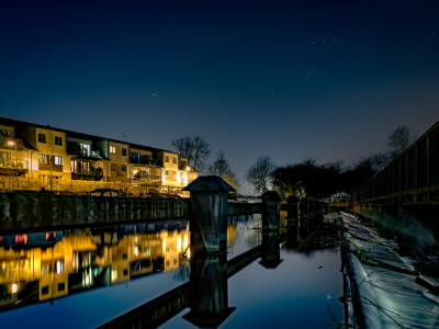 Photographing Hertford at night